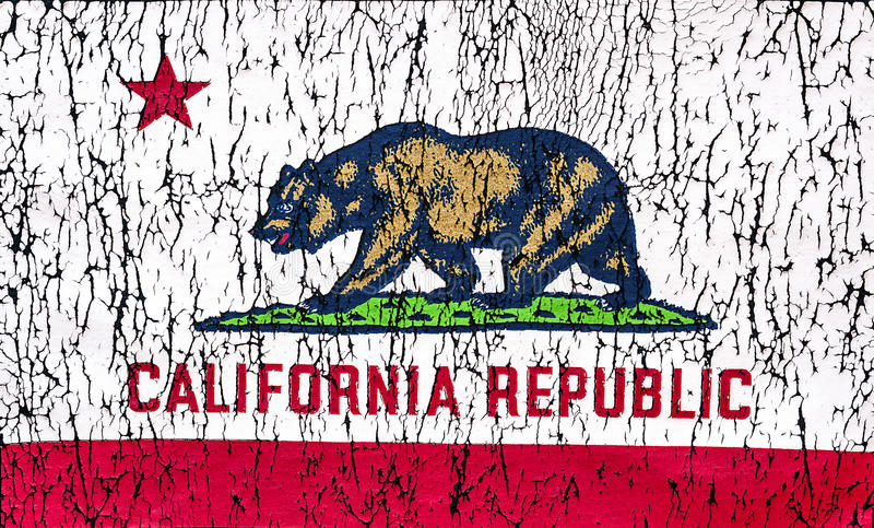 State of California Flag royalty free stock photography