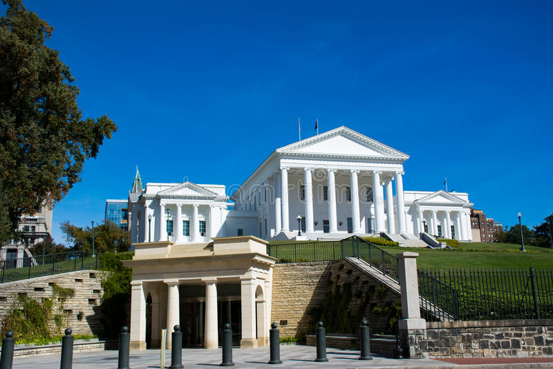 State capital building in downtown Richmond Virginia stock photos