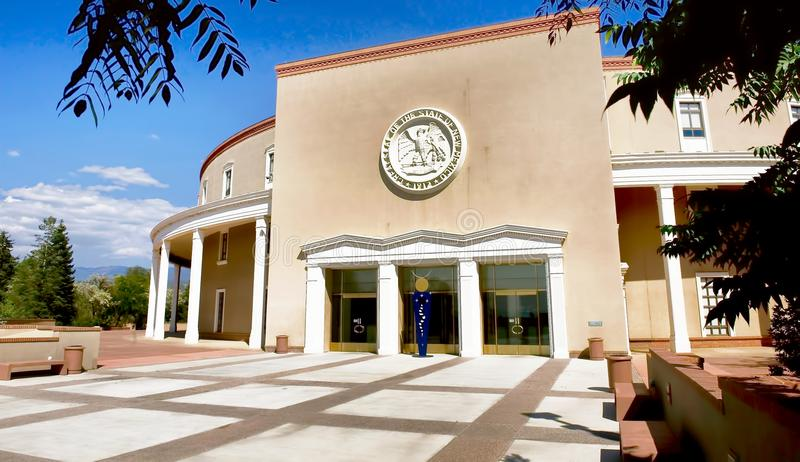 State Capital Of New Mexico. State Capital Building of New Mexico in Santa Fe stock photos