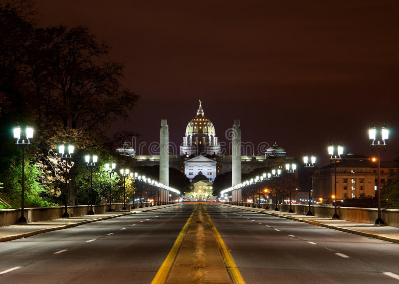 Download State capital night stock image. Image of harrisburg - 24897639