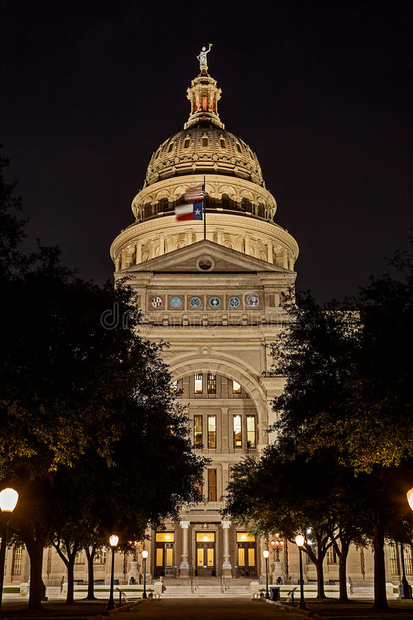 State Capital of Texas at Night stock photos