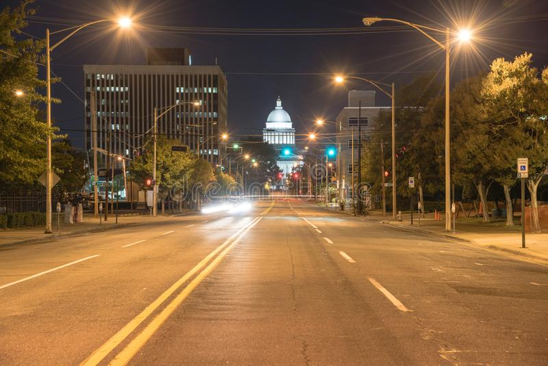 State Capitol of Arkansas nigh view royalty free stock photography