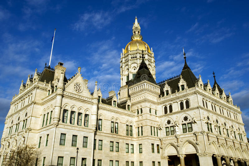 State capitol in Hartford, CT stock photography