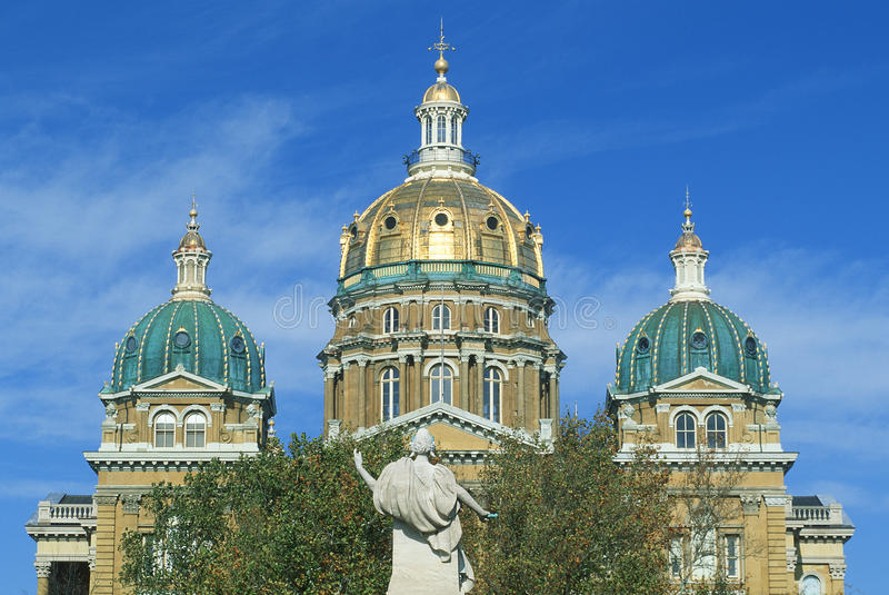 State Capitol of Iowa royalty free stock photo