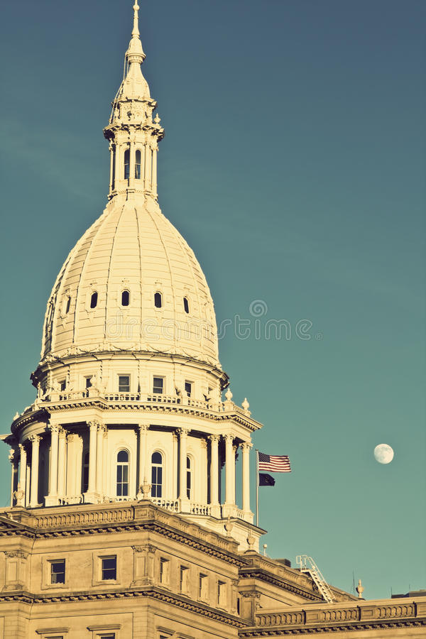 State Capitol of Michigan stock photography