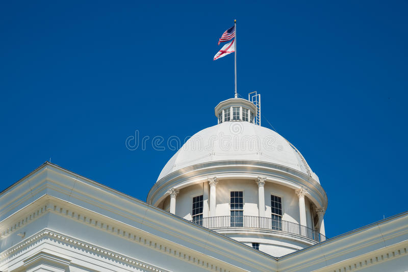 State capitol in Montgomery, Alabama stock image