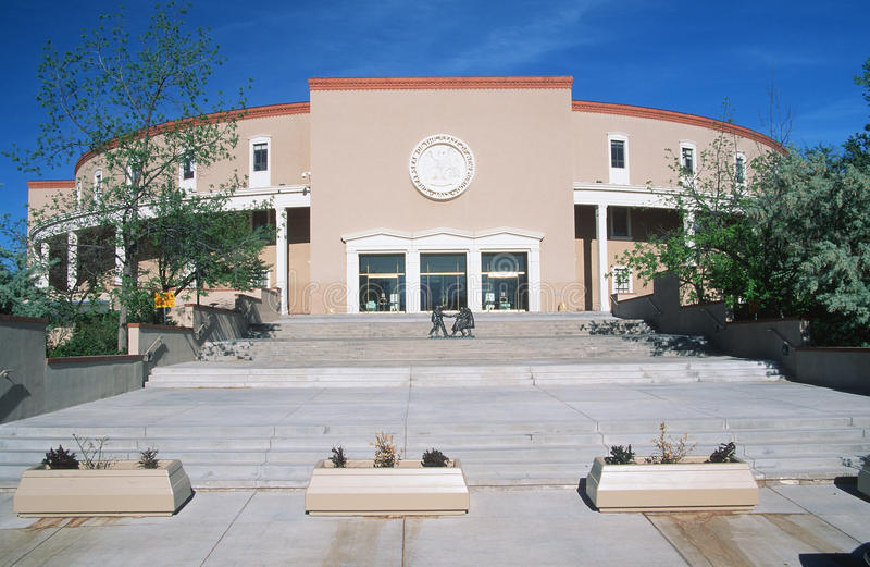 State Capitol of New Mexico. Santa Fe stock image
