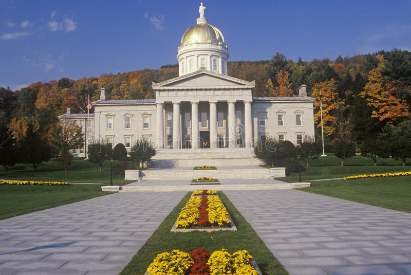 State Capitol of Vermont stock images