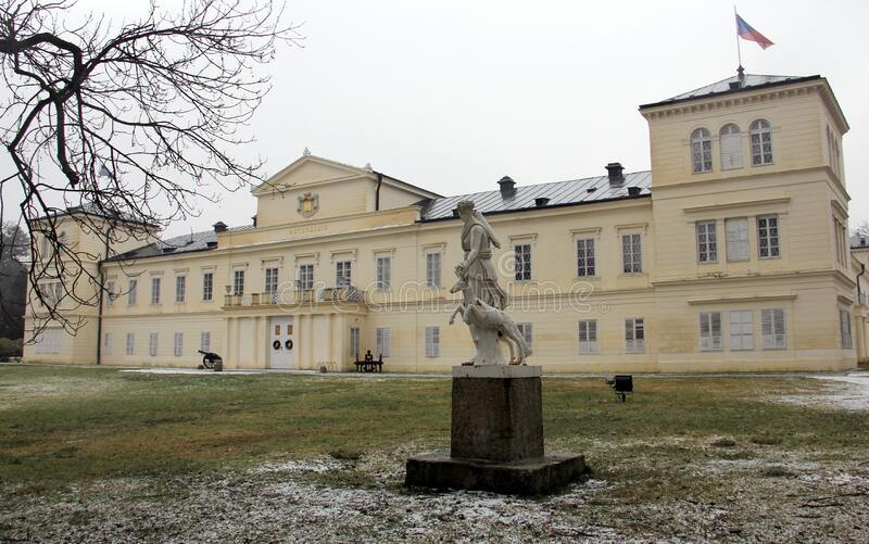 State Castle, former Metternich Family estate, place of the 1840 Diplomatic Congress, Kynzvart Castle, Czechia. State Castle, former Metternich Family estate royalty free stock images