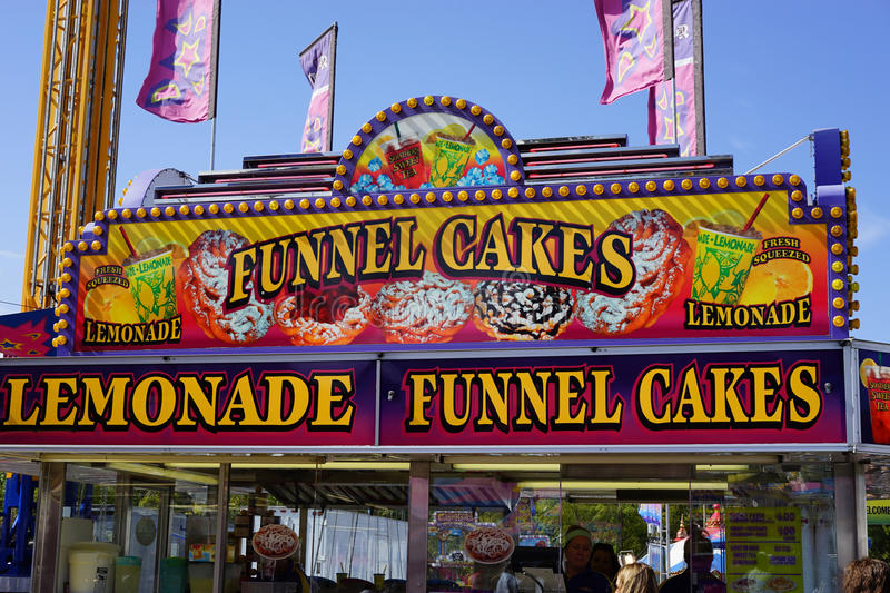 State Fair - funnel cakes stock photos