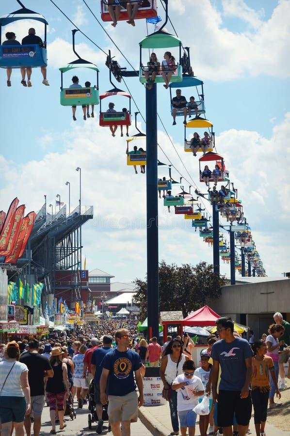 State Fair Ski Lift stock image