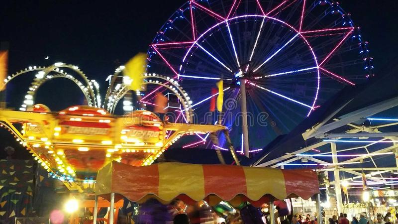State Fair of Texas. Ferris wheel from Midway royalty free stock photography