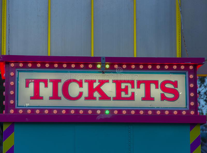 State Fair Tickets Booth stock photo