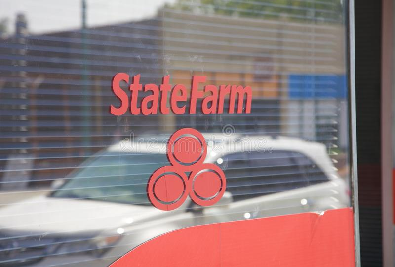 State Farm Insurance byrå royaltyfria foton