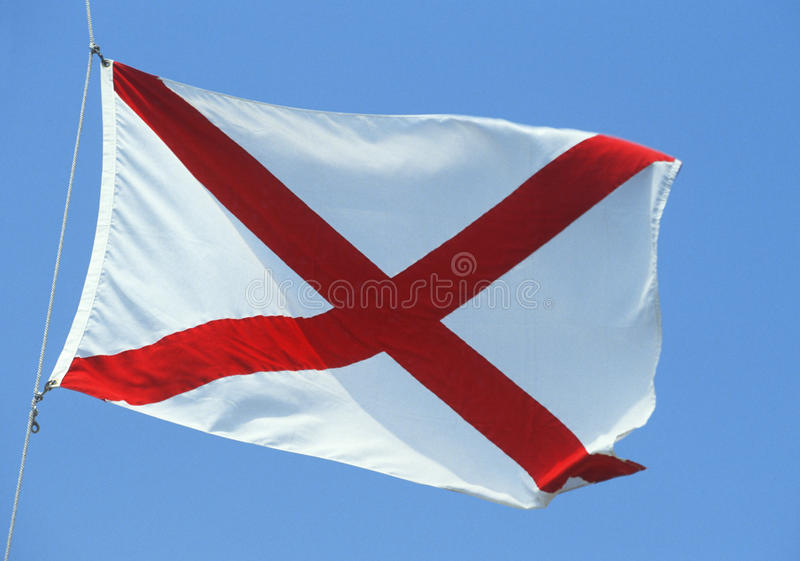 State Flag of Alabama royalty free stock photography