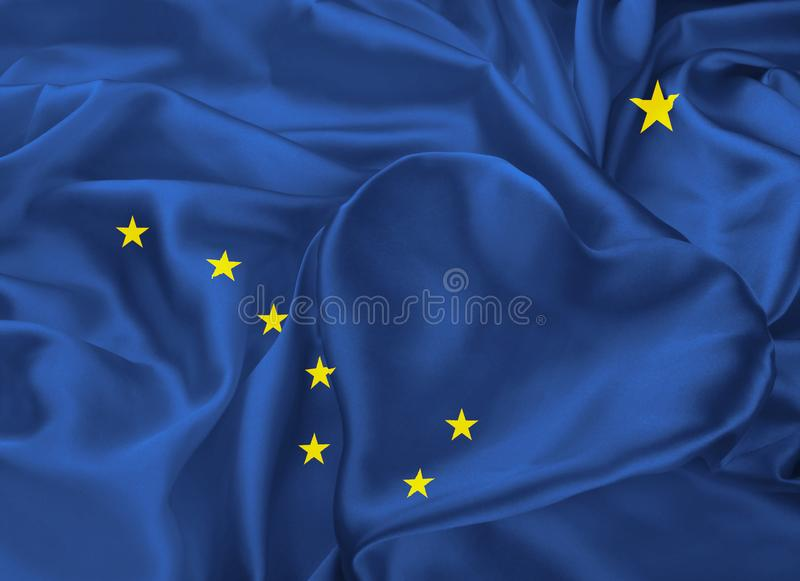State Flag of Alaska stock illustration
