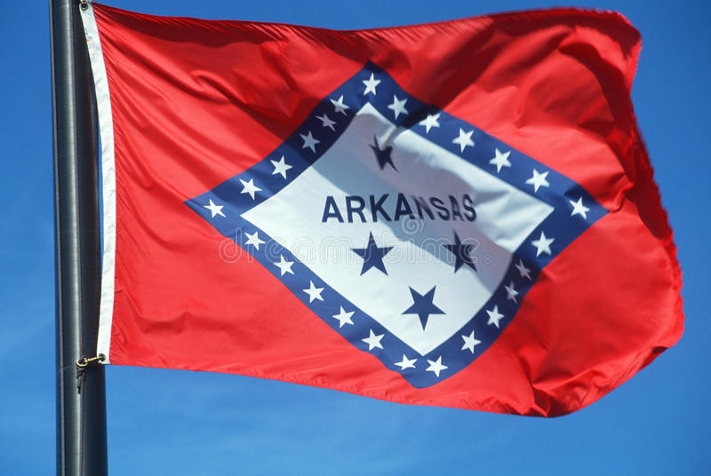 State Flag of Arkansas royalty free stock image