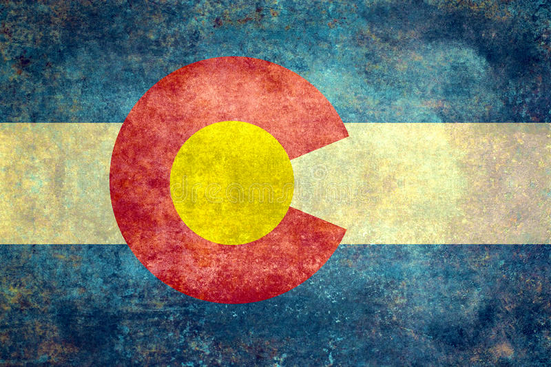 State flag of Colorado, vintage distressed version royalty free stock photos