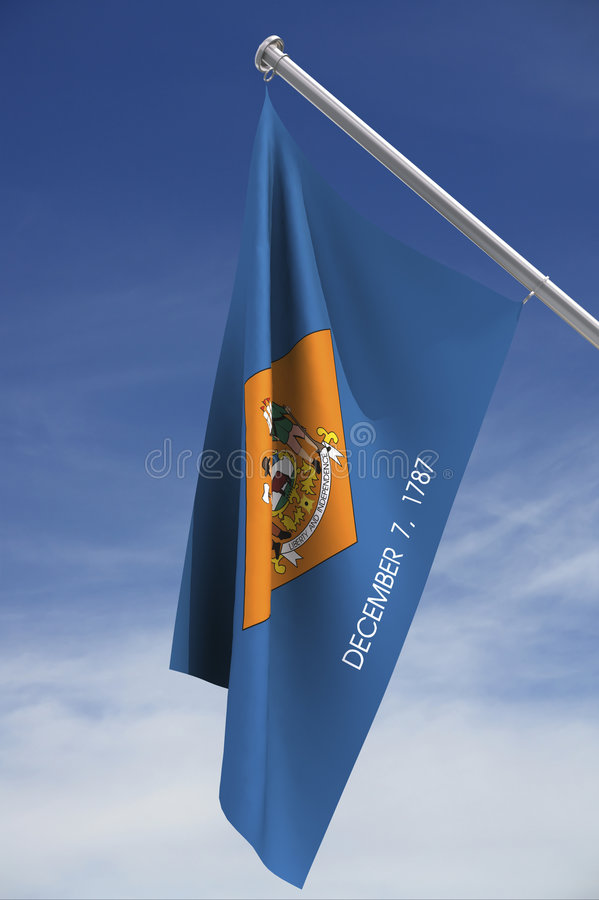 State flag of Delaware royalty free stock photography