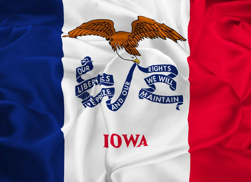State Flag of Iowa royalty free illustration