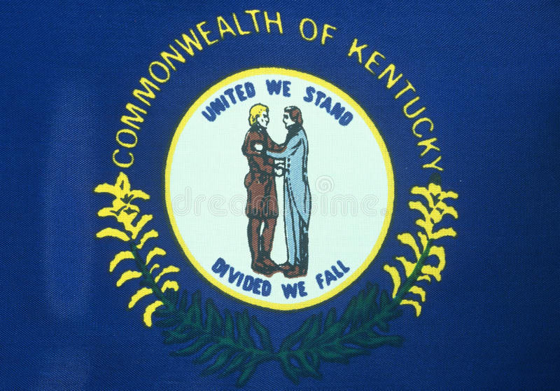 State Flag of Kentucky. Close pu of the state Flag of Kentucky royalty free stock photography