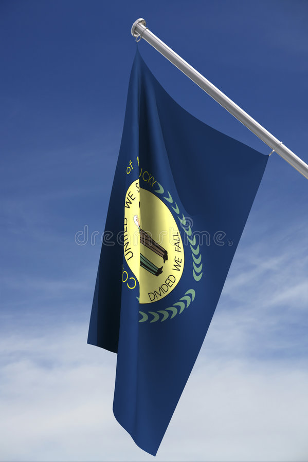 Download State flag of Kentucky stock illustration. Image of flying - 2708393