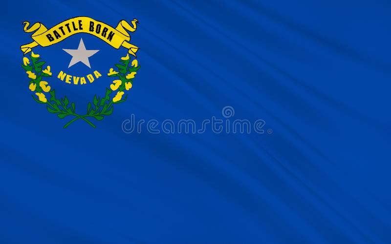 State Flag of Nevada royalty free illustration