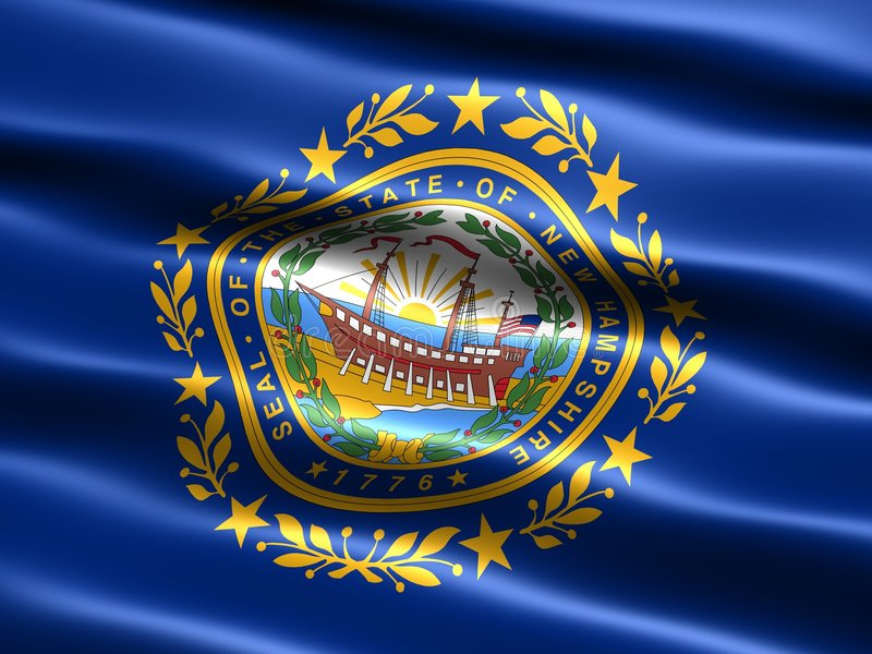 State Flag Of New Hampshire Stock Photos