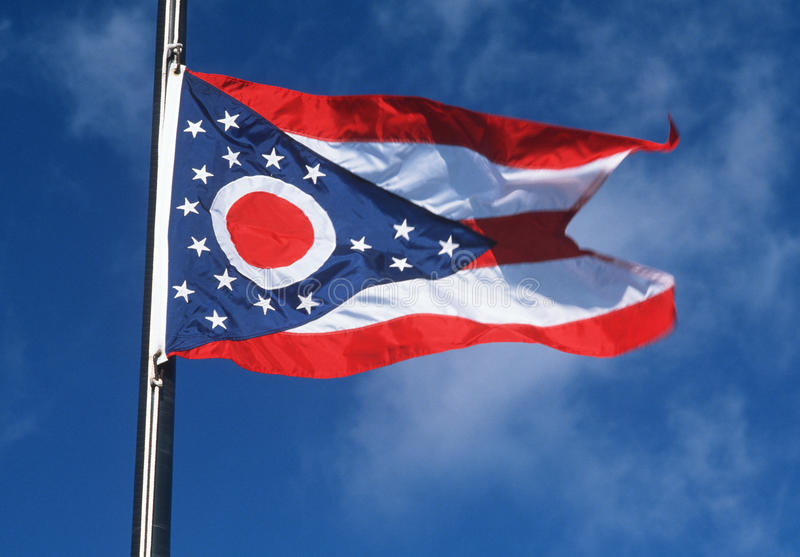 State Flag of Ohio stock photos