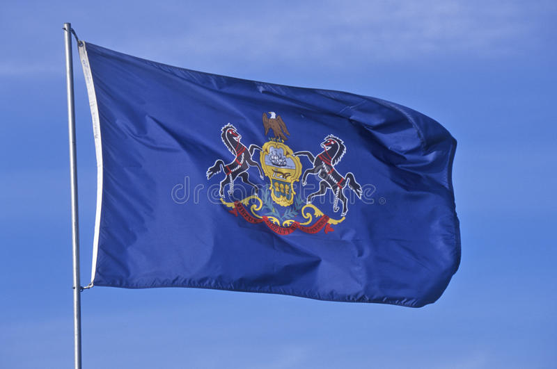 State Flag Of Pennsylvania Royalty Free Stock Photo