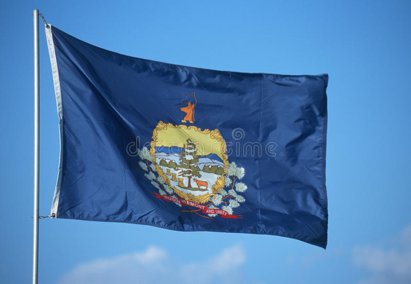 State Flag of Vermont royalty free stock photos