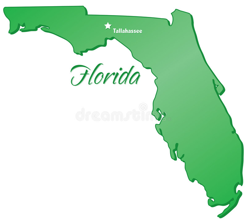 State of Florida vector illustration