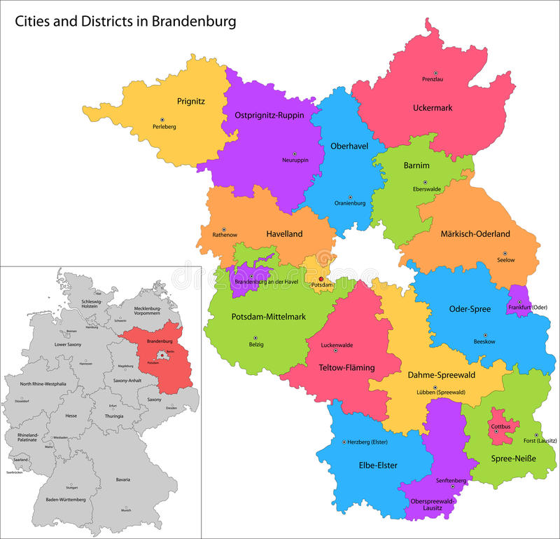 download state of germany brandenburg stock vector illustration of counties berlin 32719549