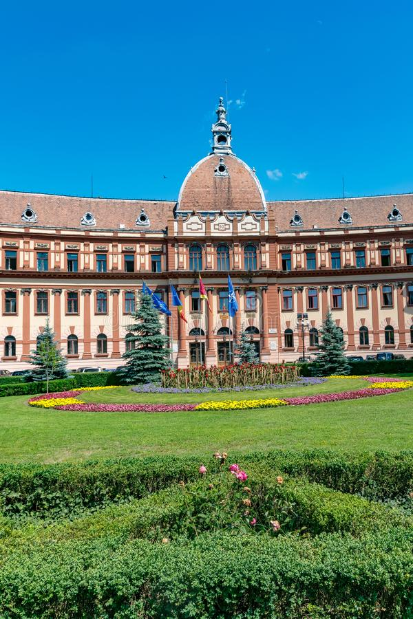 State Government Office building in Brasov, Romania stock images
