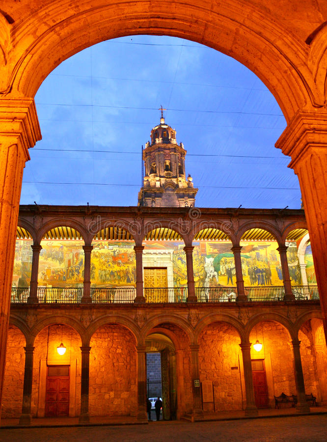 Download State Government Offices Archway, Morelia, Mexico Stock Photo - Image: 17782124