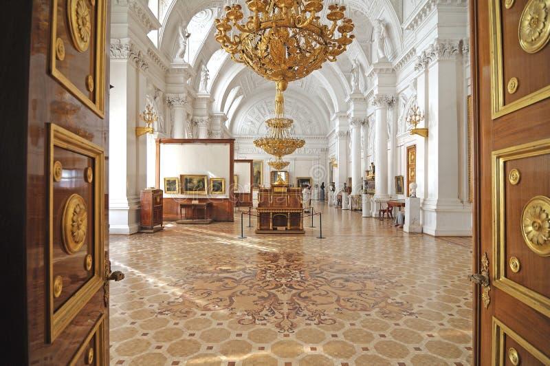 State Hermitage Museum corridor stock image