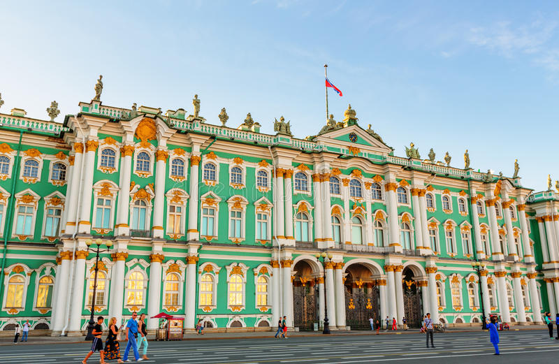 The State Hermitage Museum in Saint Petersburg royalty free stock images