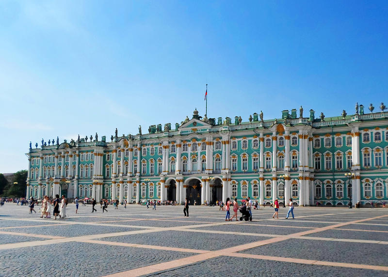 The State Hermitage Museum or the Winter Palace stock photos