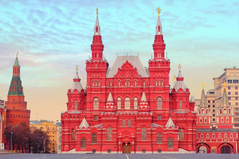State Historical Museum in Moscow, Russia. State Historical Museum in Moscow on the Red Square, Russia