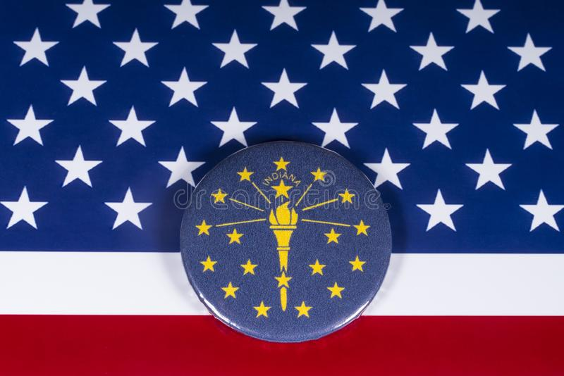 The State of Indiana in the USA stock photo
