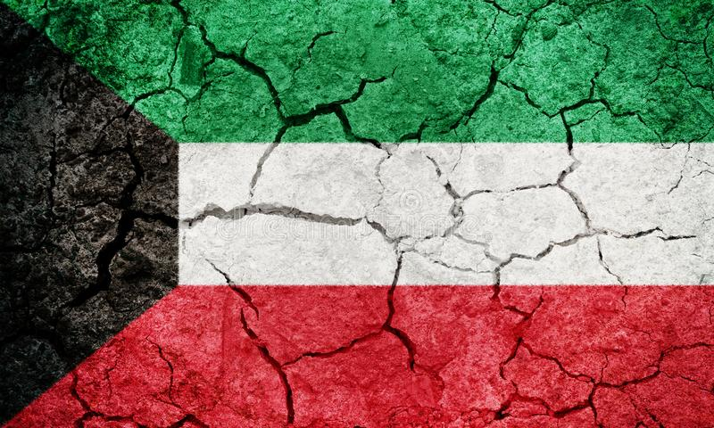 State of Kuwait flag royalty free stock photos
