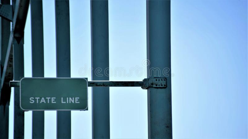State Line royalty free stock photography