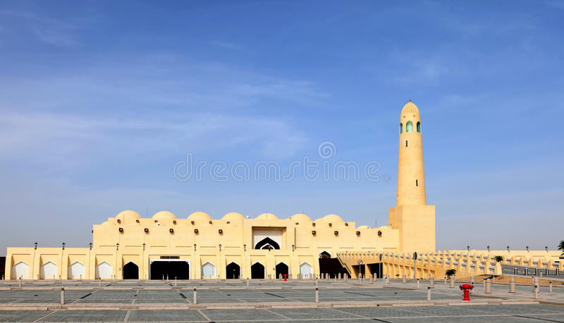 The State Mosque in Doha Qatar stock photography