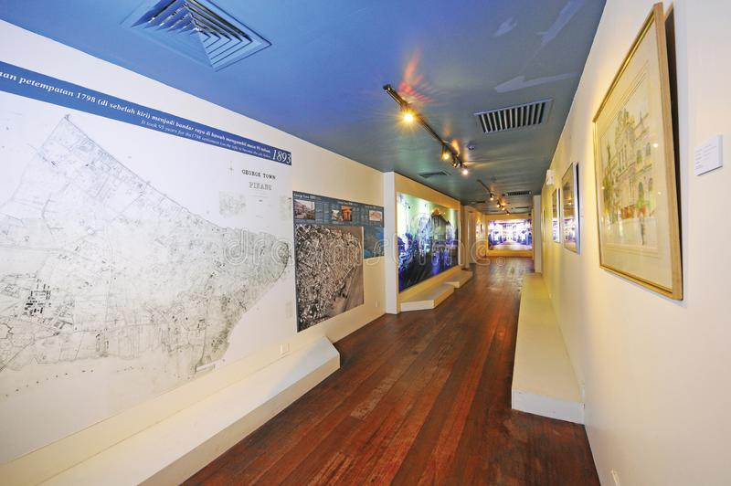 Penang Museum & Art Gallery. Is set on the junction of Lebuh Farquhar and Lebuh Light in Georgetown. Established in 1821, it houses national and state treasures stock image