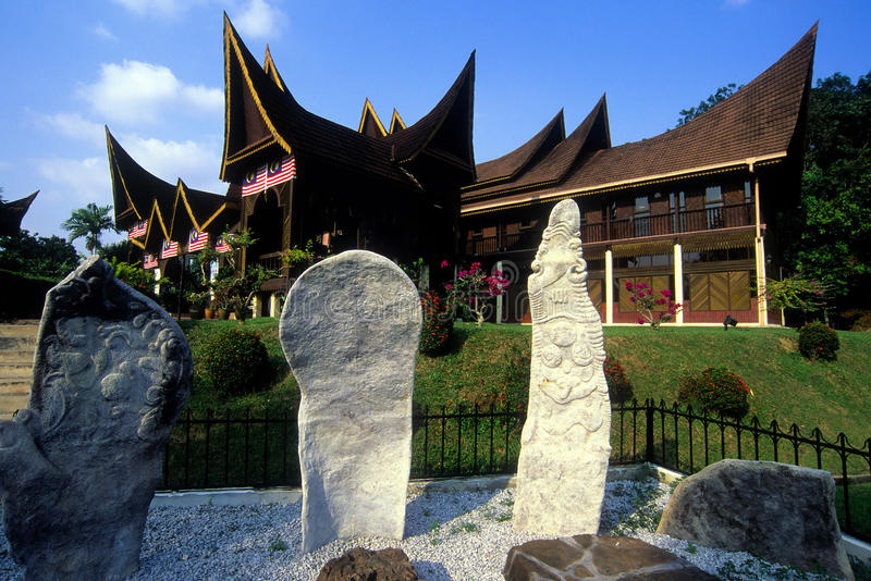 State Museum Seremban. Is located near the Seremban toll exit. It was once the Istana Ampang Tinggi, a royal residence built in 1861 at Ampang Tinggi in the royalty free stock photos