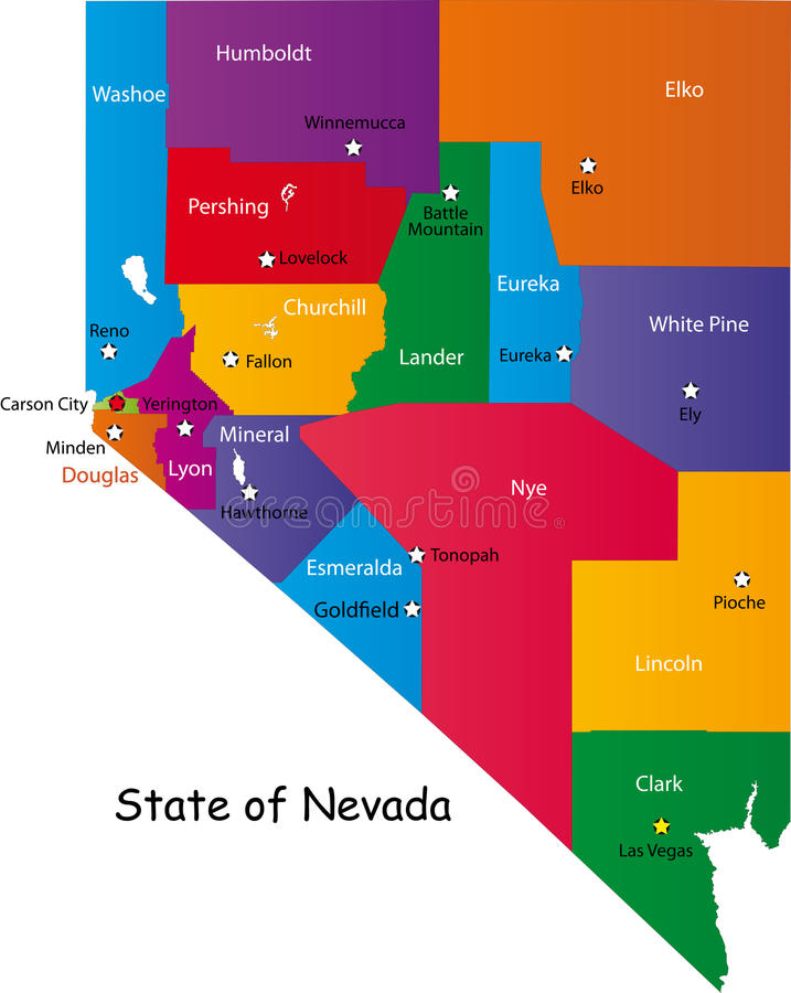State Of Nevada Stock Image