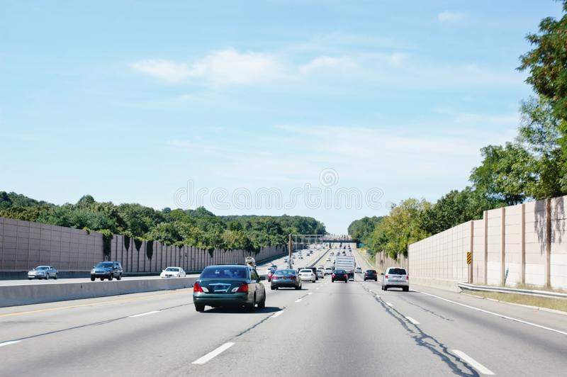 State new york antinoise road barriers royalty free stock photography