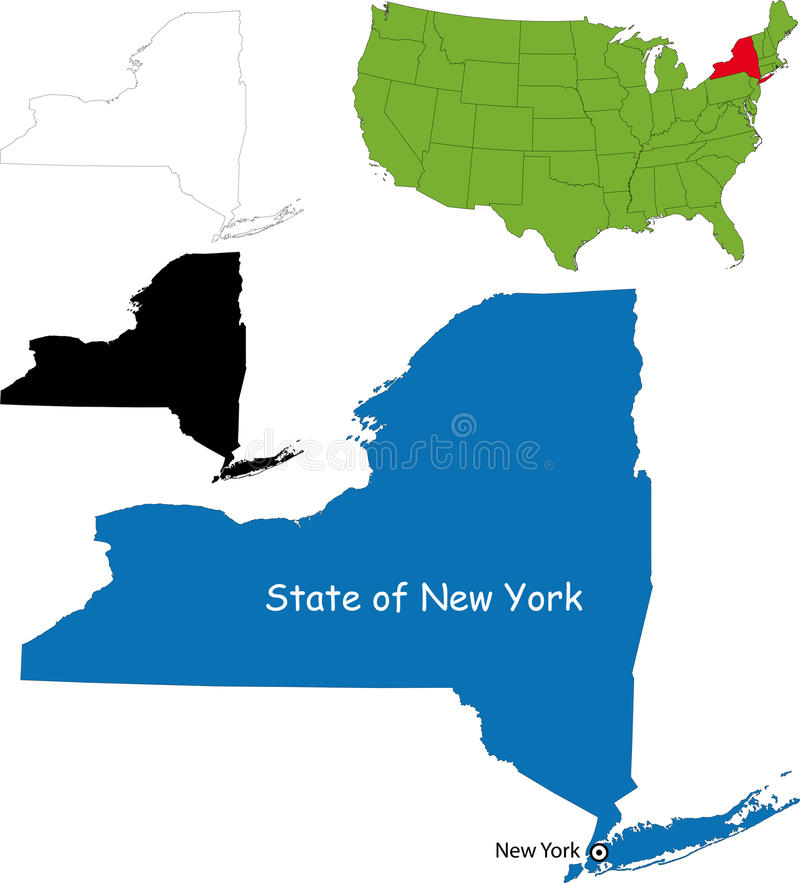 State of New York, USA. Illustration of State of New York, USA vector illustration