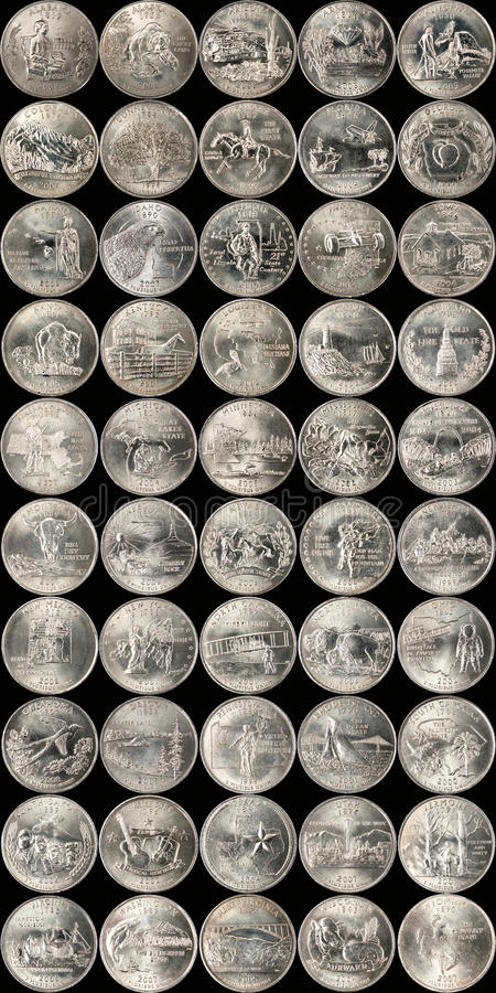 State Quarters royalty free stock photos