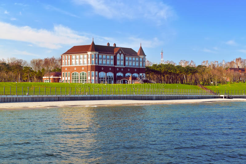The state residence of the Russian Federation. Town of Pionersky, Russia. The state residence of the Russian Federation, view from the side of the sea. The town stock photography